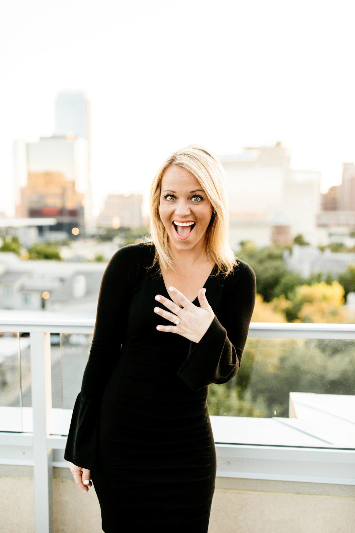 Eric & Megan - Downtown Dallas Rooftop Proposal & Engagement Session-103