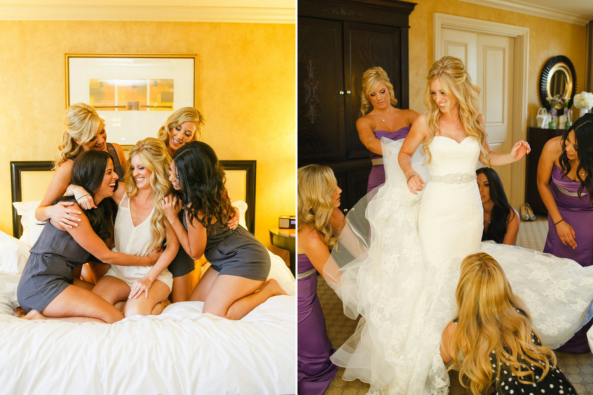 Modern OR bride and bridesmaids getting ready photos  | Susie Moreno Photography