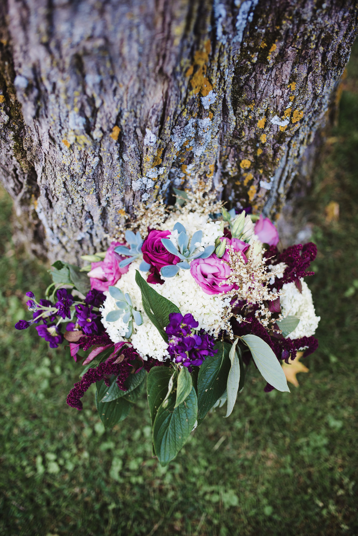 colorful Victorian wedding bouquet