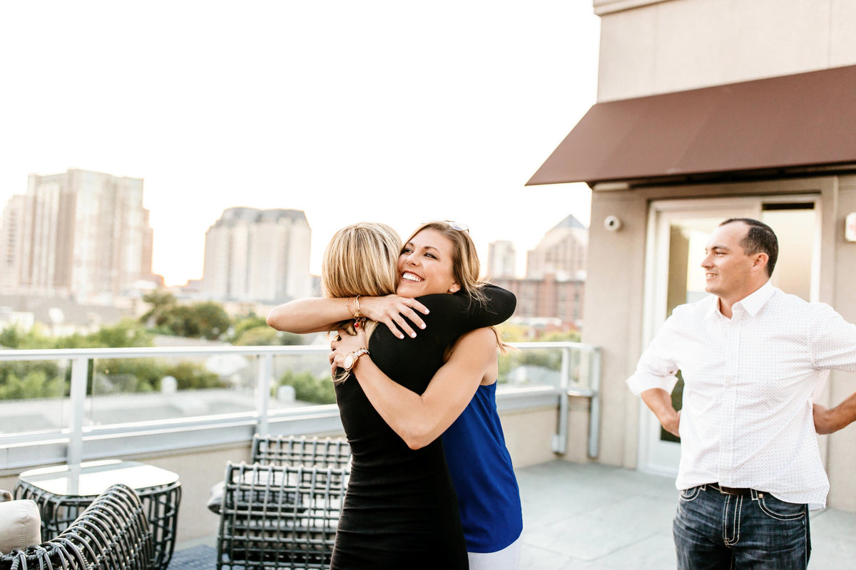 Eric & Megan - Downtown Dallas Rooftop Proposal & Engagement Session-188