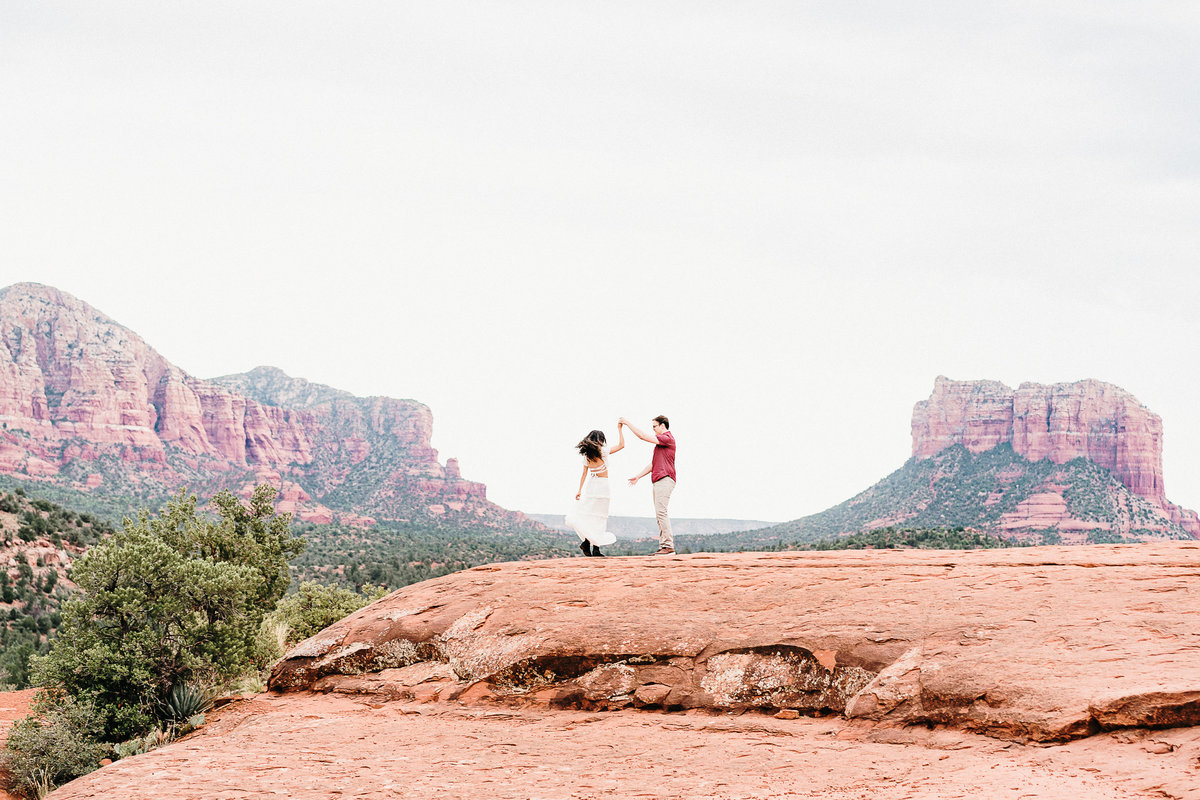 Atlas Rose Photography AZ Kat And Cam Sedona Adventure Engagment Experience 03