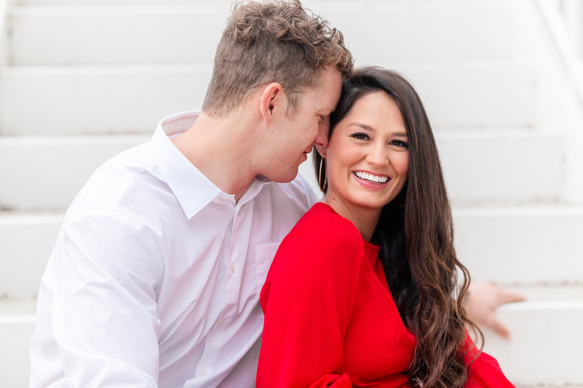 red dress for engagement photos | toni goodie photography