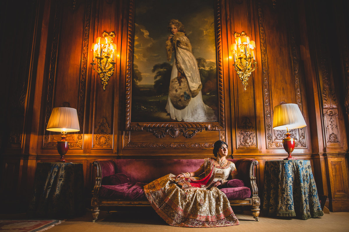 knowsley hall asian wedding photo portrait