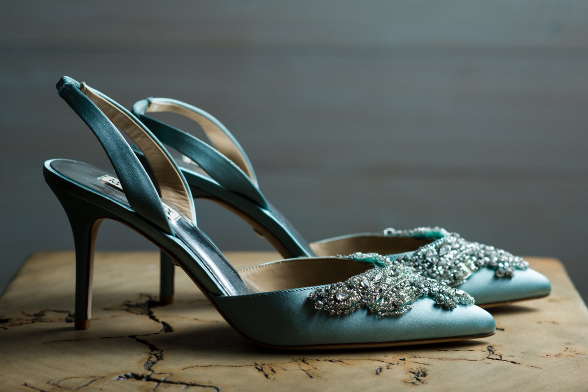 Badgley Mischka Wedding shoe detail photo