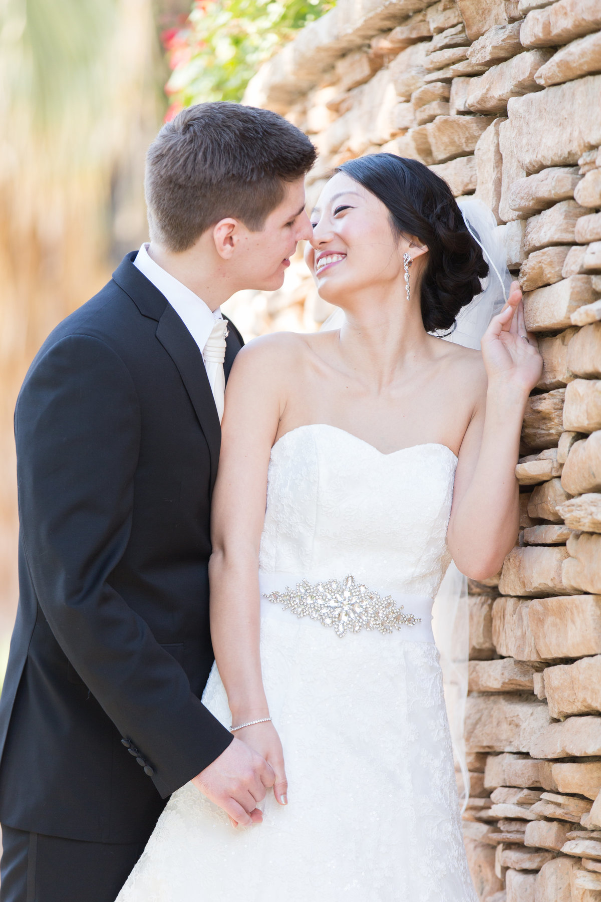 First Look photos at Desert Willow, Palm Desert Wedding Photography