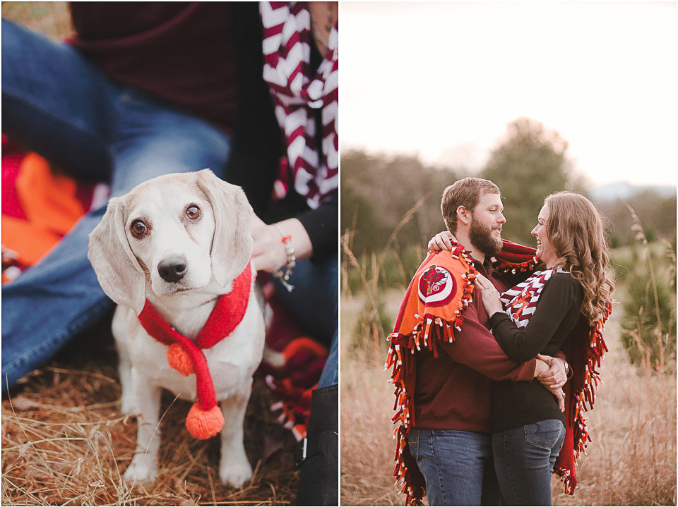 Virginia-Tech-engagement-session-with-dog