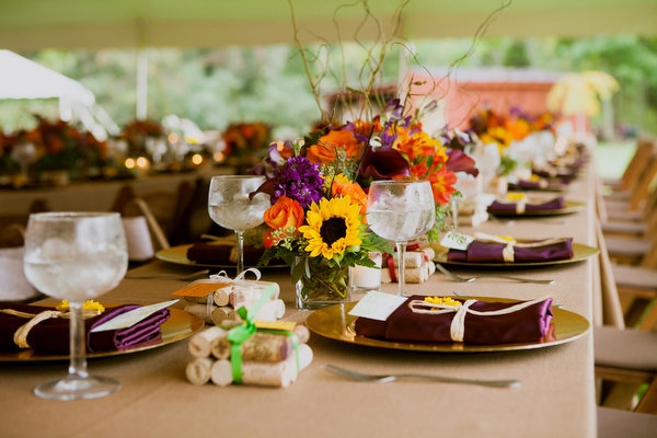 Farm home tent wedding fall rustic8