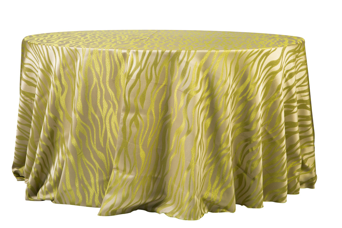 132'' Rd Green Lava Tablecloth