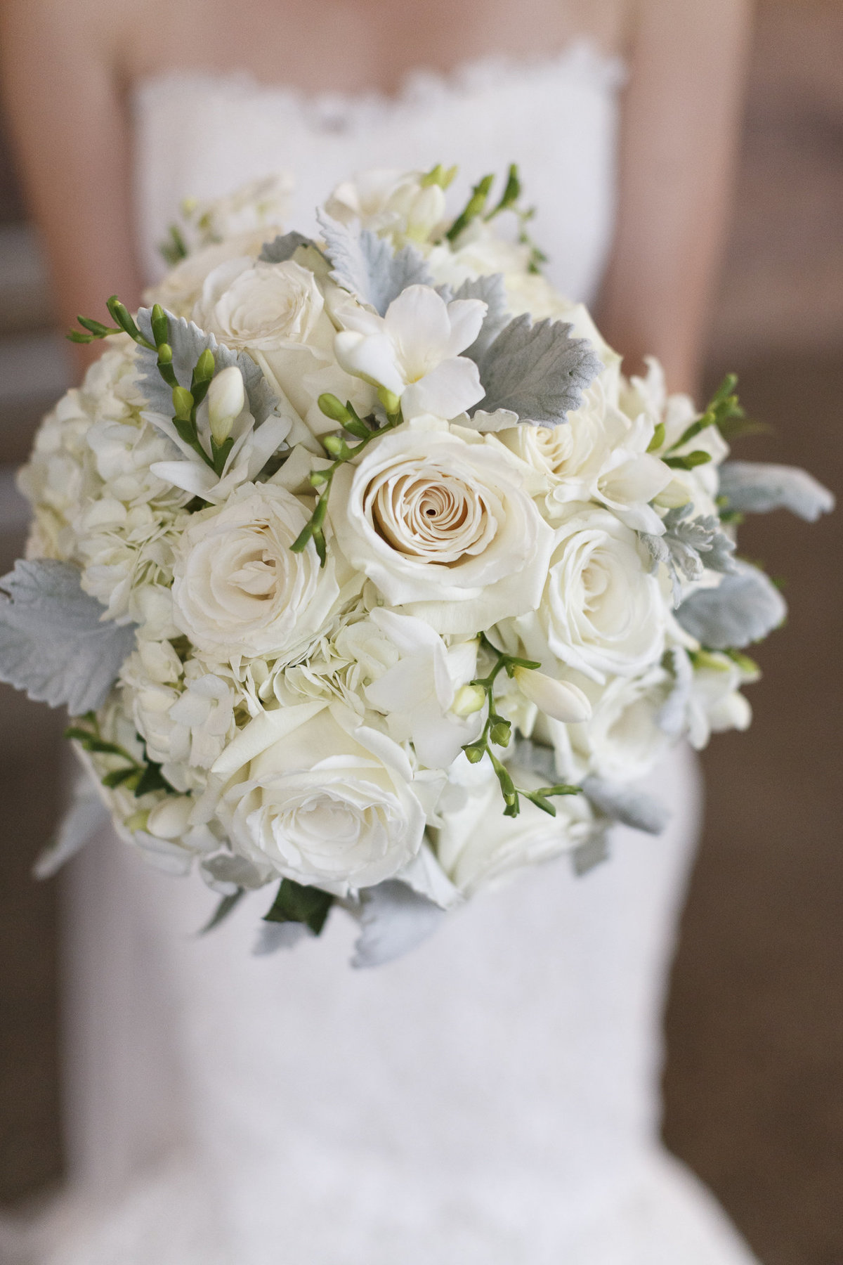 White Rose Bridal Bouquet in Indianapolis