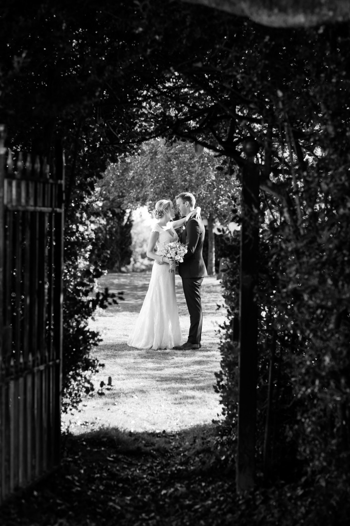 bridwell black and white wedding photo