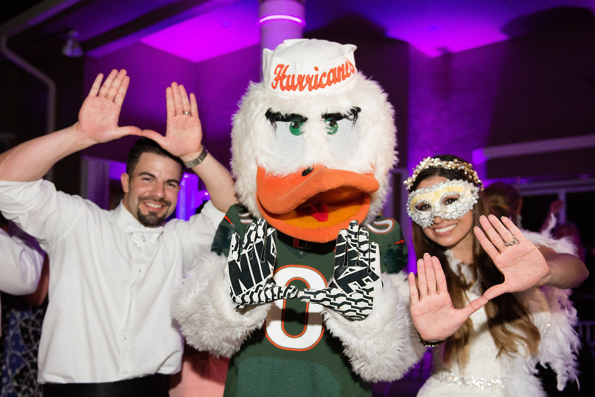 University of Miami Canes Themed Wedding