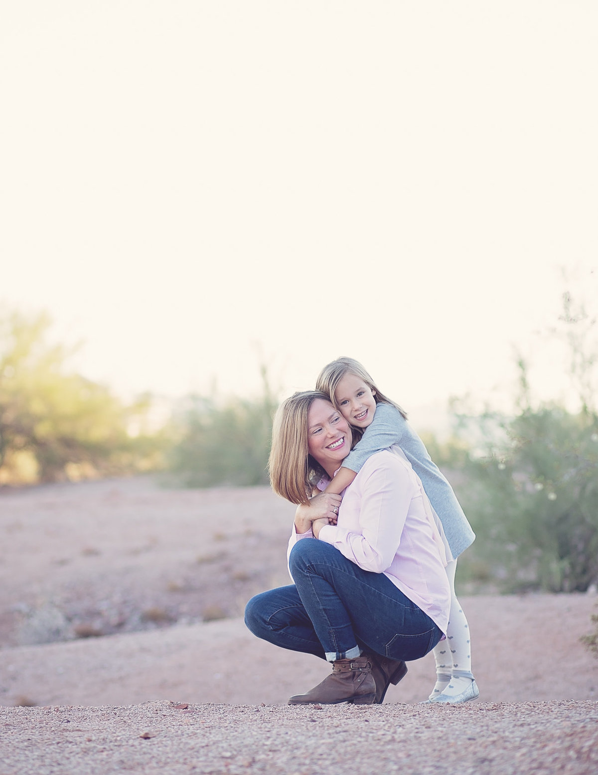 mom and daughter desert photo by Scottsdale Arizona Family Photographer Plume Designs & Photography