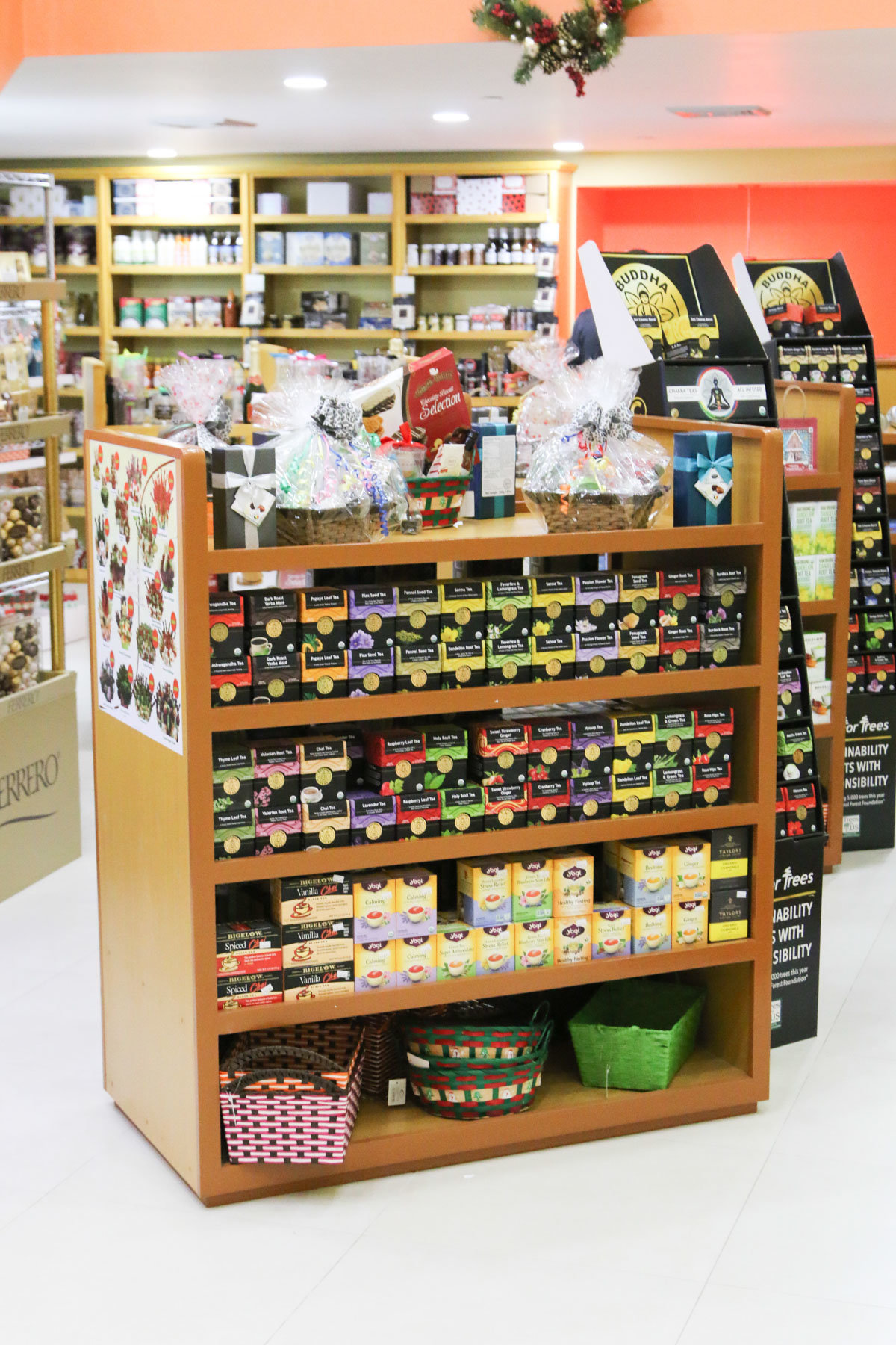 Promo shot of a store shelf with products. Photo by Ross Photography, Trinidad, W.I..