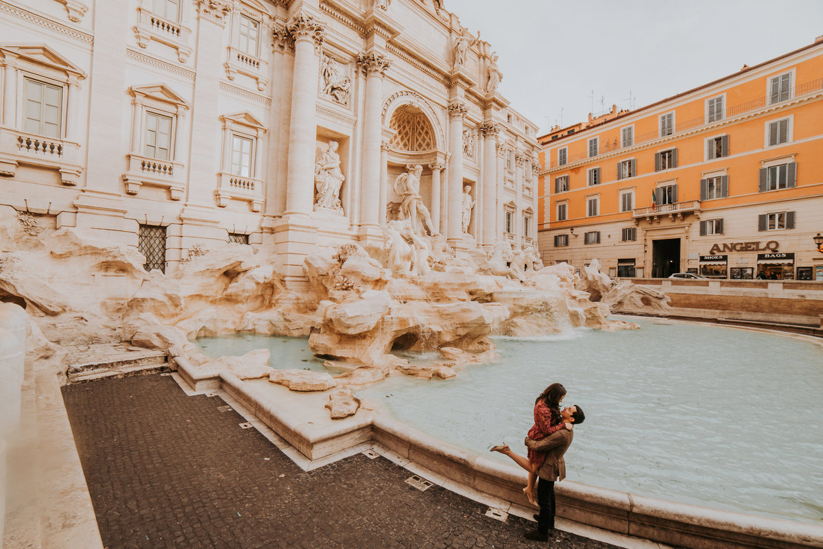 Rome Italy Colosseum Trevi Fountain Engagement Couple Bride and Groom Wedding Life In Tandem Photography-3