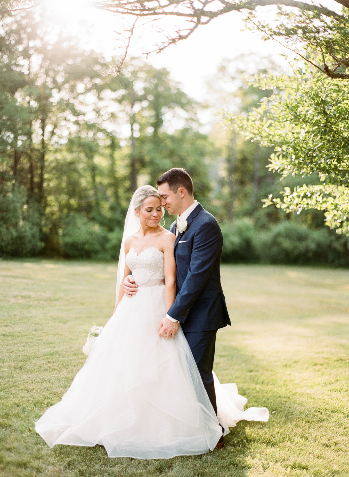 willowdale estate wedding couple in field boston wedding photographer
