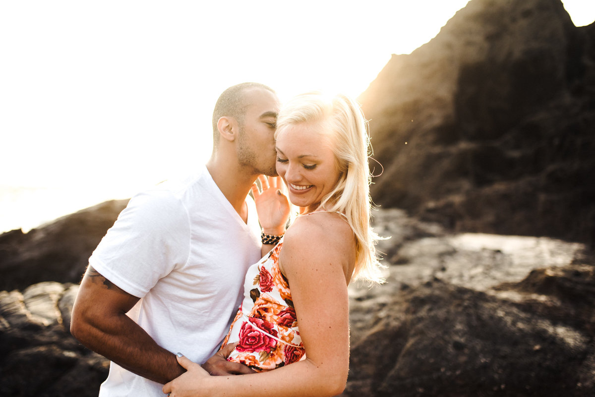 Eternity Beach Honolulu Hawaii Destination Engagement Session - 11