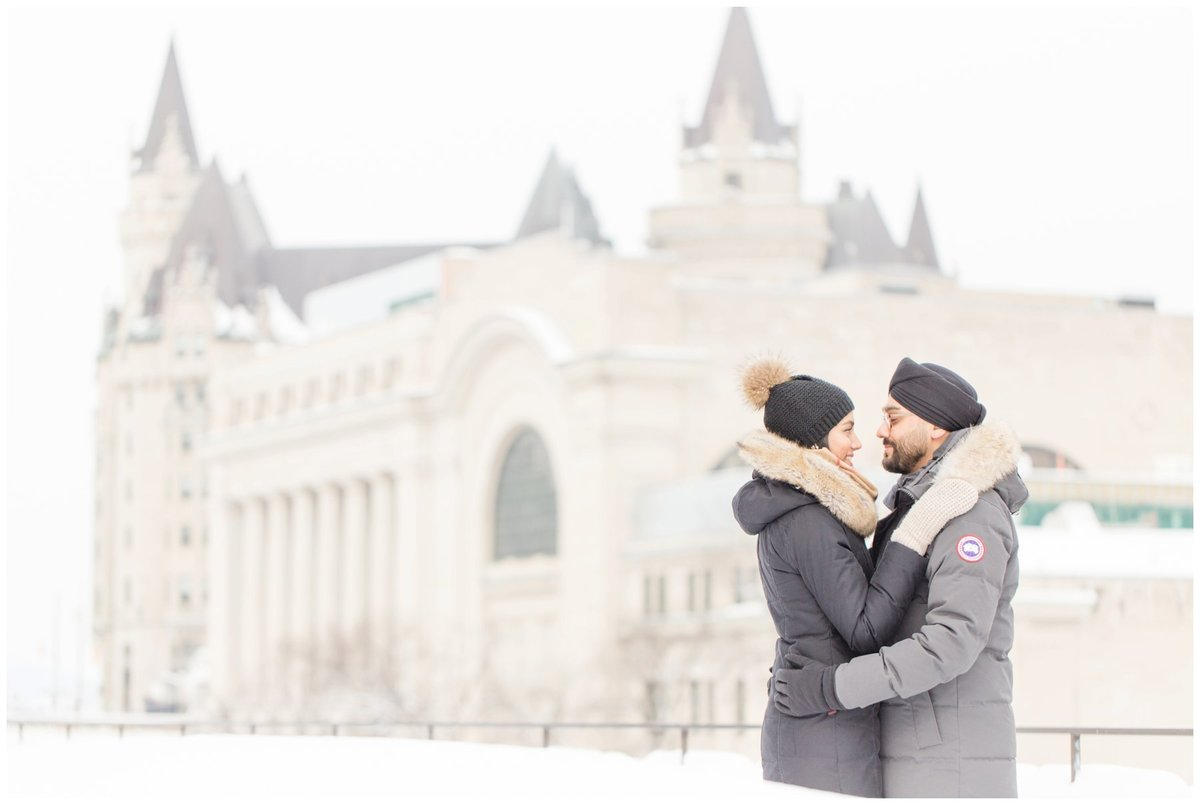 Light-and-Airy-Ottawa-Wedding-Photographer-Winter-Engagement-Chateau-Laurier