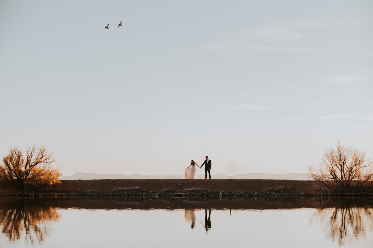 Faith + Daniel - El Paso Church Wedding Life In Tandem Photography - Sunset Portraits-18