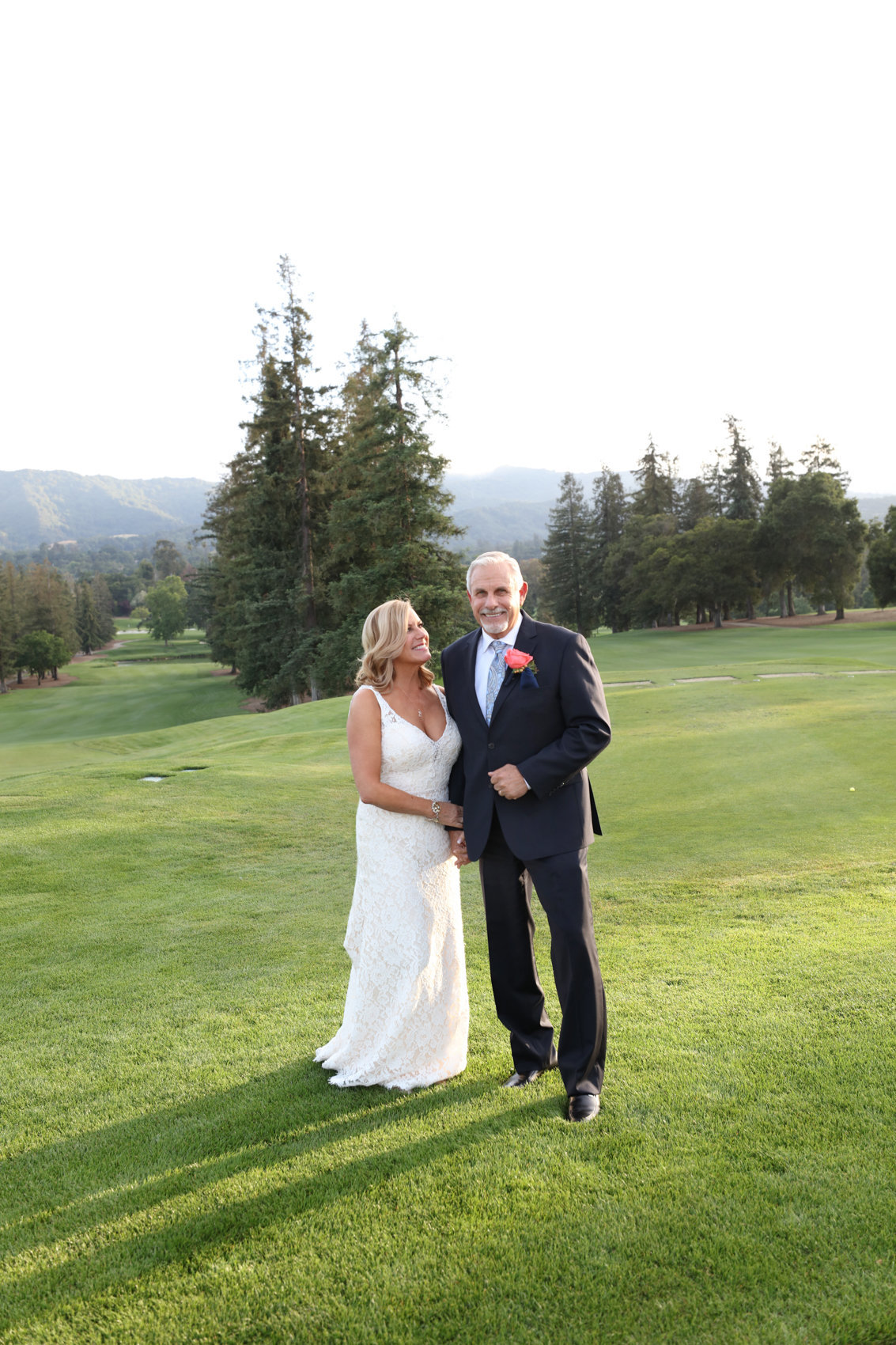 Los altos wedding portraits, bride and groom, outdoor setting wedding