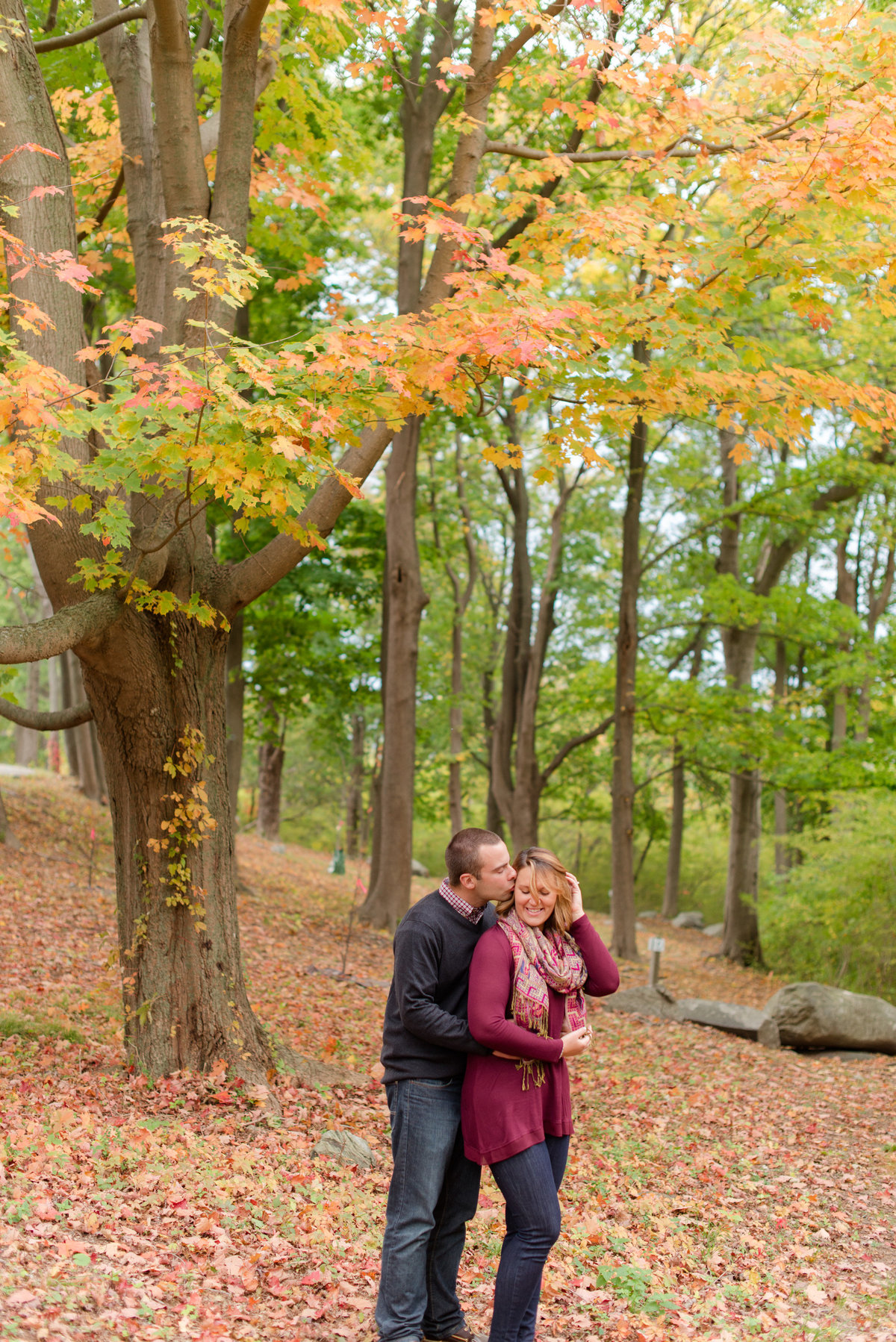 crane estate fall engagement session