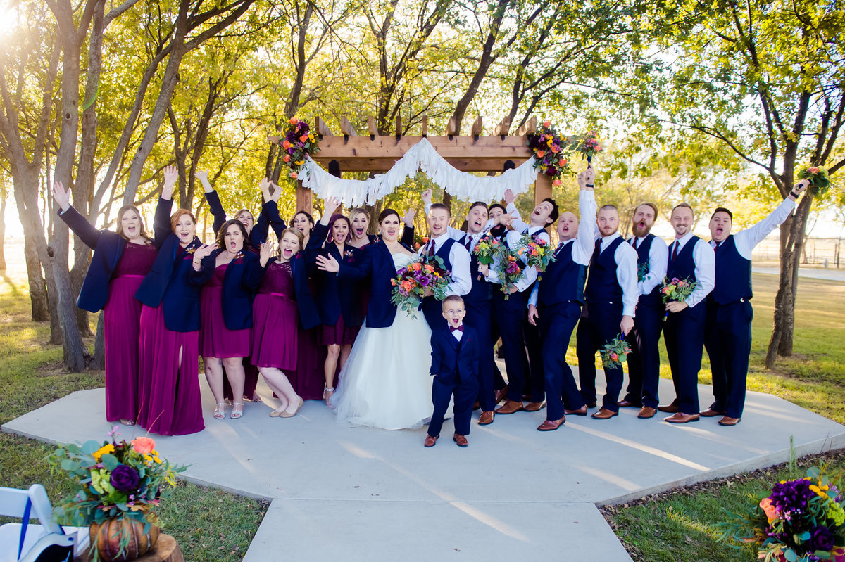 Barnett Estates wedding party photo