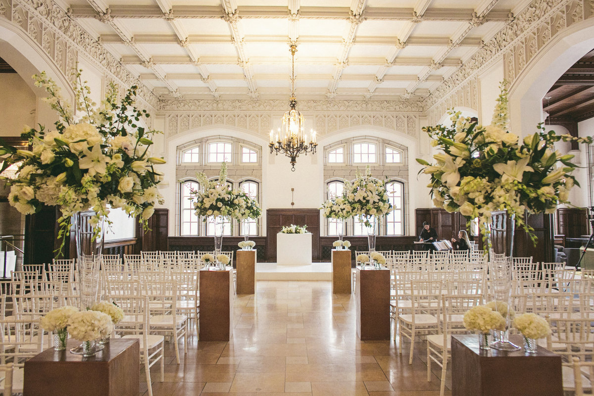 Luxury Wedding Planner designs in Historic Lobby Space in downtown  Grand Lobby location
