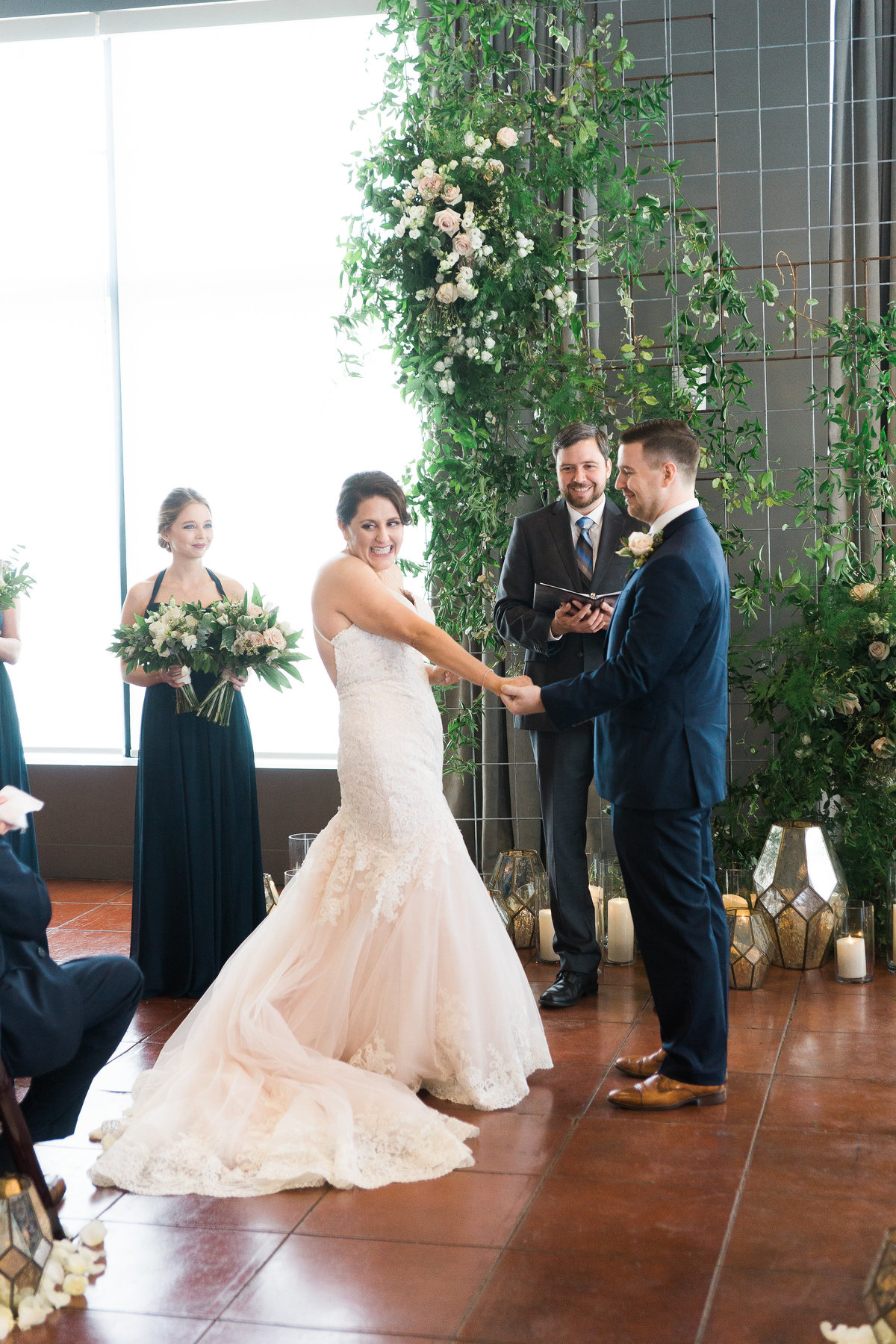 Intimate wedding at downtown venue