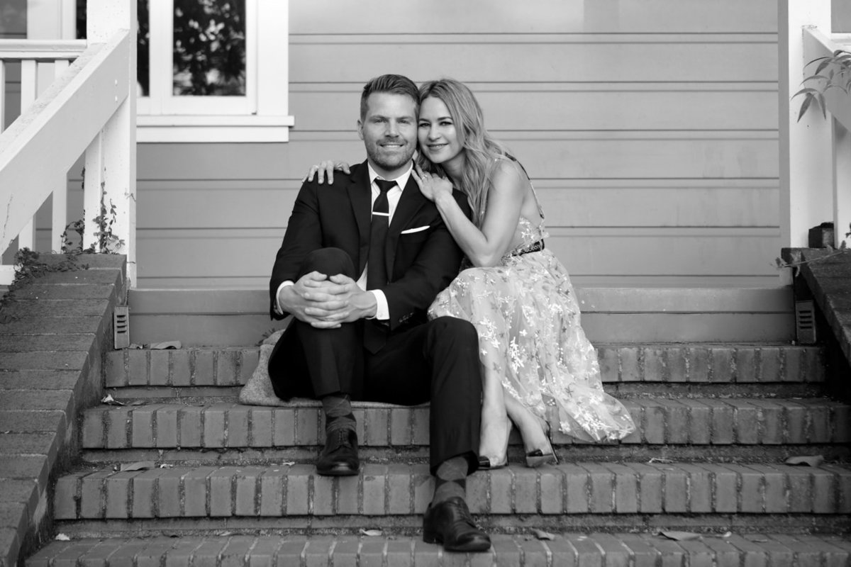 Engagement session in northern california with deneffe studios, black and white natural light photograph
