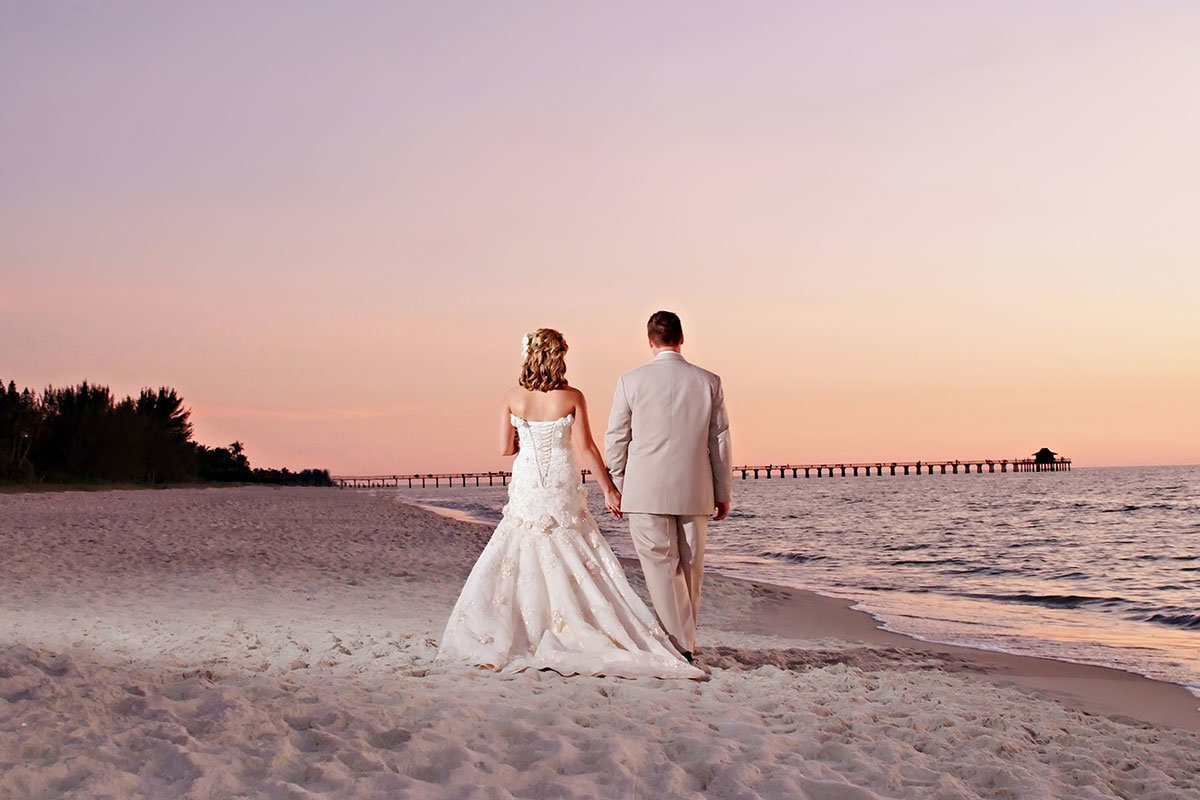 naples pier 8th ave south sunset wedding