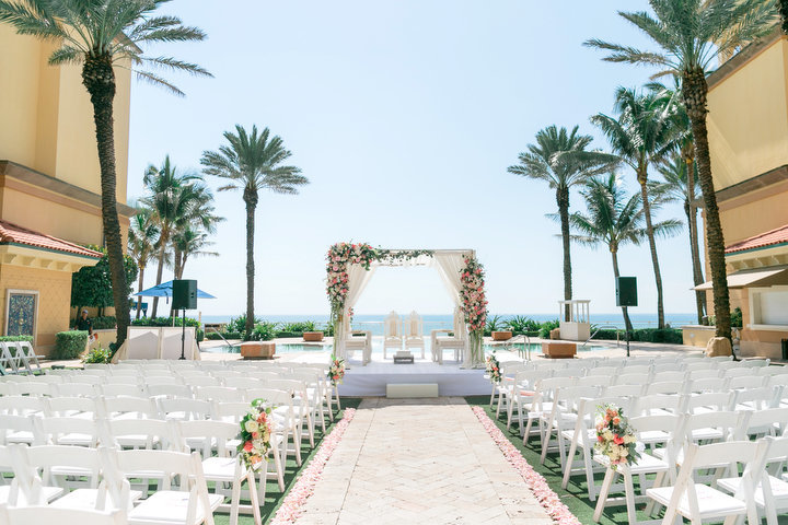 Wedding Mandap at Eau of Palm Beach on the water