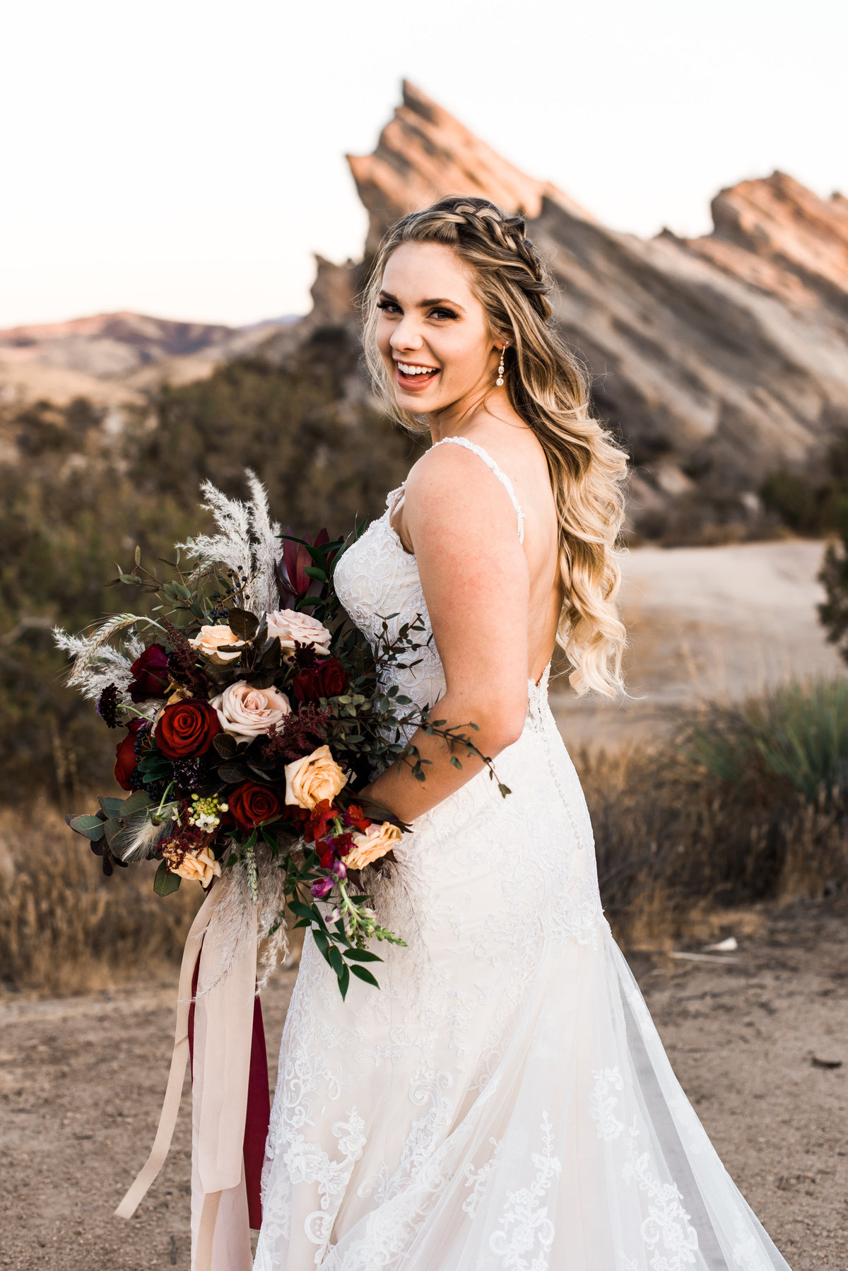 wedding photos in the desert photo