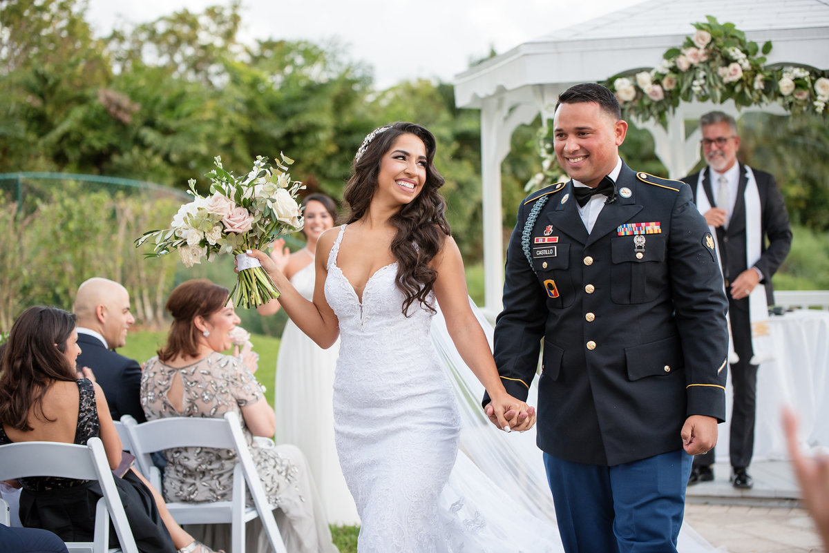 Veterans Day Military Wedding Doral Park Country Club