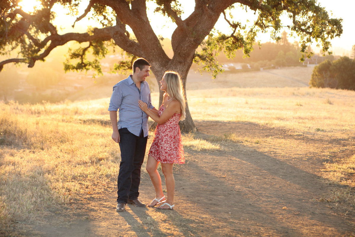 Westwind Community Barn Los Altos Hills Golden Light Engagement Photography