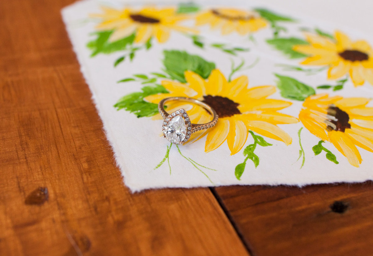Aldworth Manor New England  Gay Wedding Hand Painted on Hand Made Paper Sunflower Wedding Invitation Suite