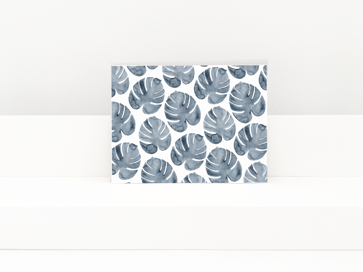 newgreetingcard_palm leaves blue