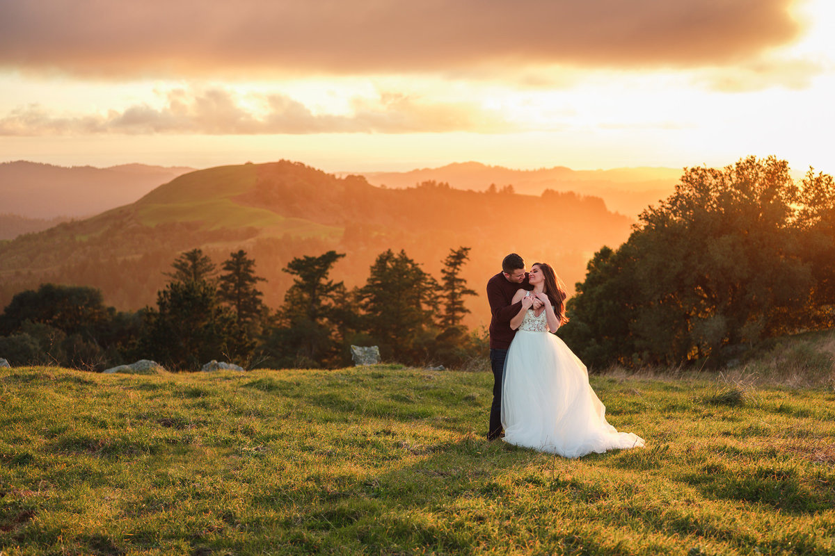 Russian Ridge Elopement at Sunset