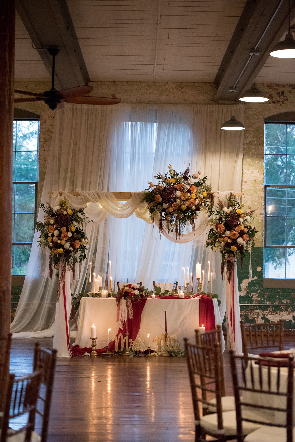 Engine Room Sweetheart Table Georgia Wedding Photographer