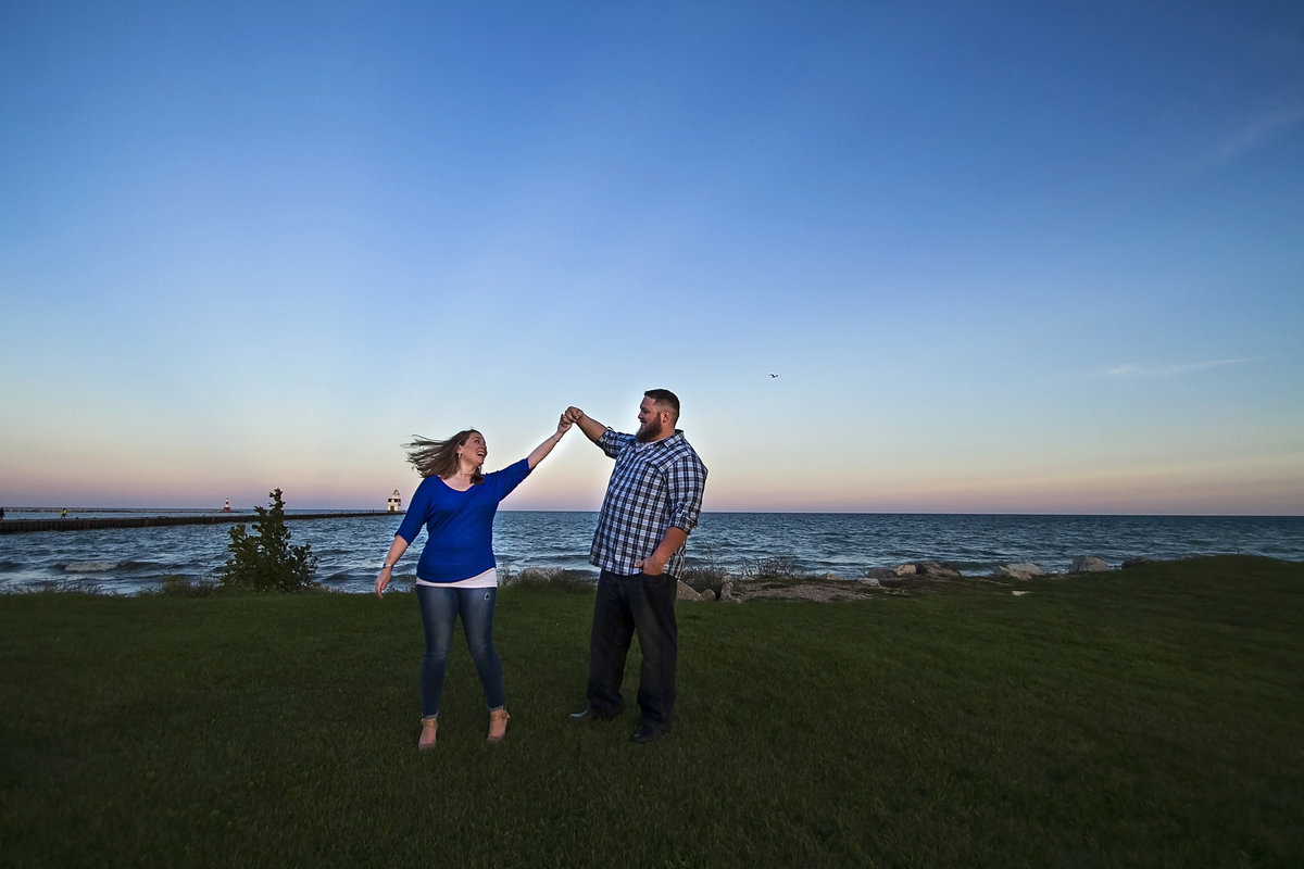 Door County Kewaunee engagement photos by Green Bay wedding photographer Casi Lea Photography