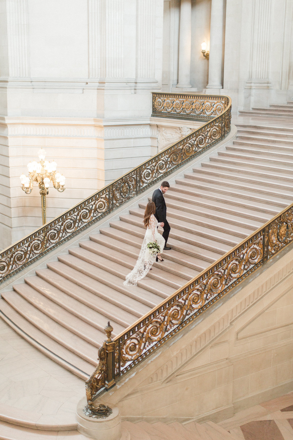 San Francisco City Hall Wedding with Jumpsuit-12