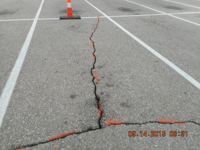 Large Crack Repair Before
