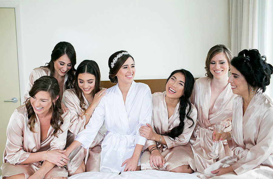 miami bridesmaids before wedding