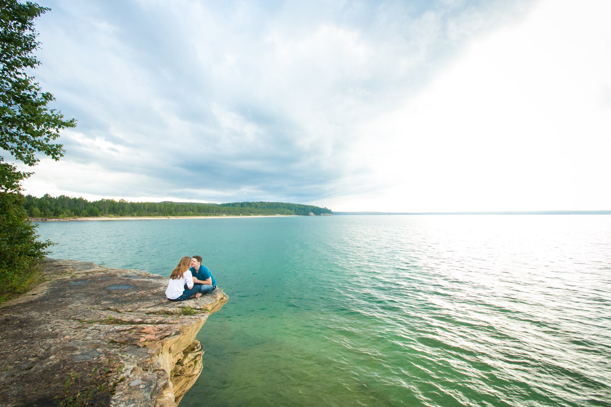 Brice & Kelsey Adventure Engagement Session at Pictured Rocks  Photos by Amenson Studio-0047
