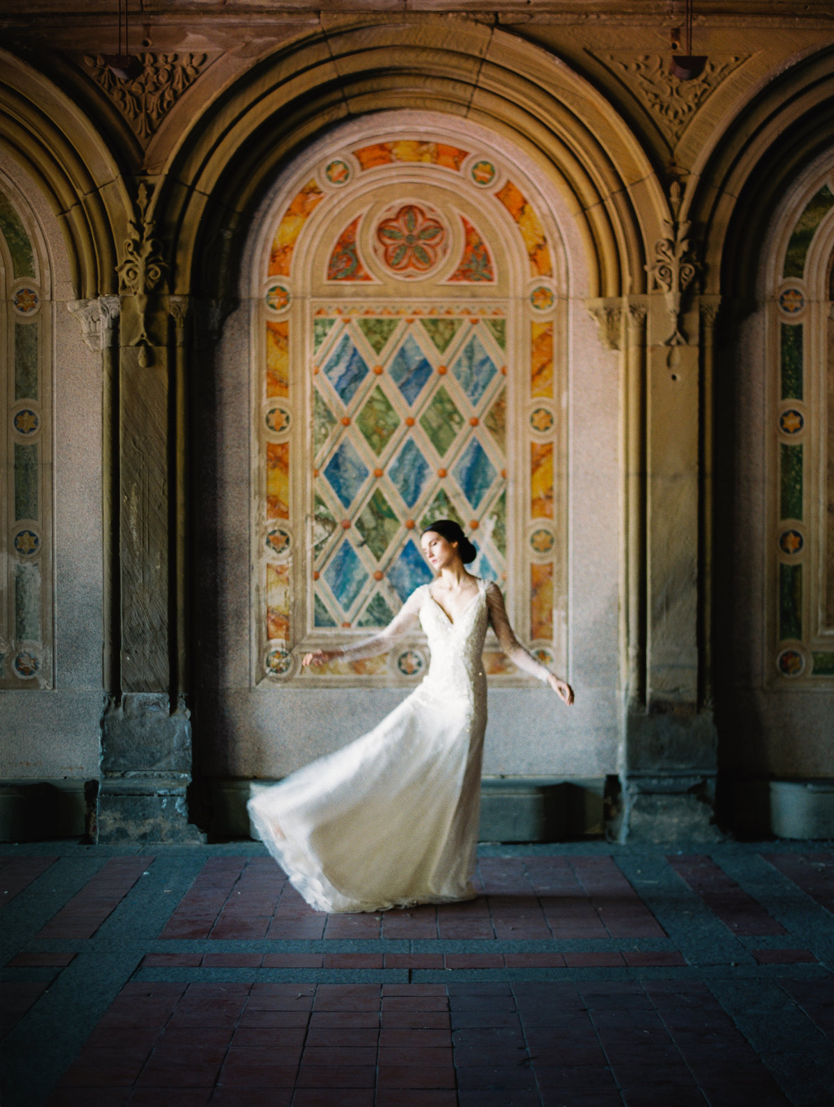 wedding image at Bethesda terrace