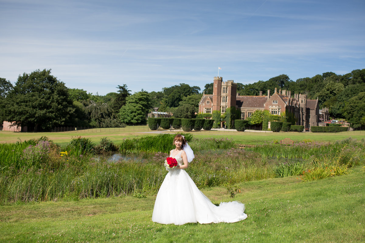 july wedding bride at st audries park somerset