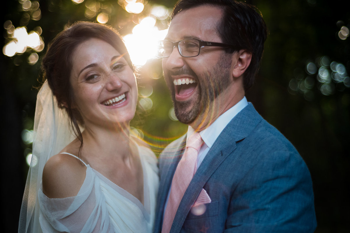 Brooklyn Wedding Photographer | Rob Allen Photography | Destination Wedding Photographer at Mt. Sinai New York bride and groom portrait with sun flare
