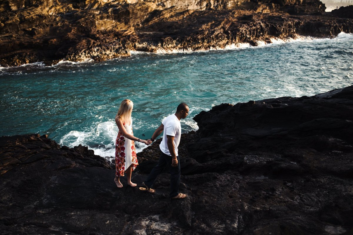 Eternity Beach Honolulu Hawaii Destination Engagement Session - 17