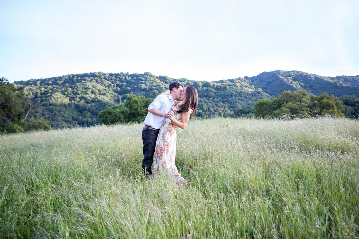 Engagement Photography at Sunset in the Hills of the Bay Area
