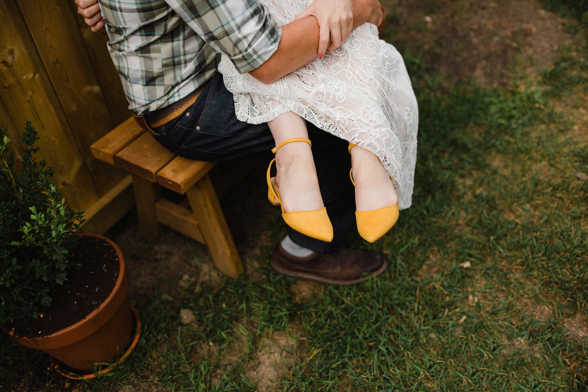 Garden Wedding Photos Yellow Wedding Shoes
