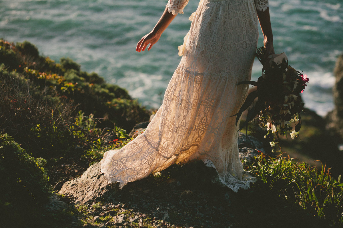 Bridal Portraits in Big Sur