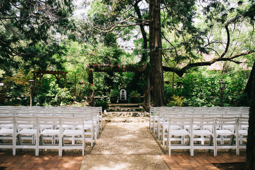 amazing garden wedding california